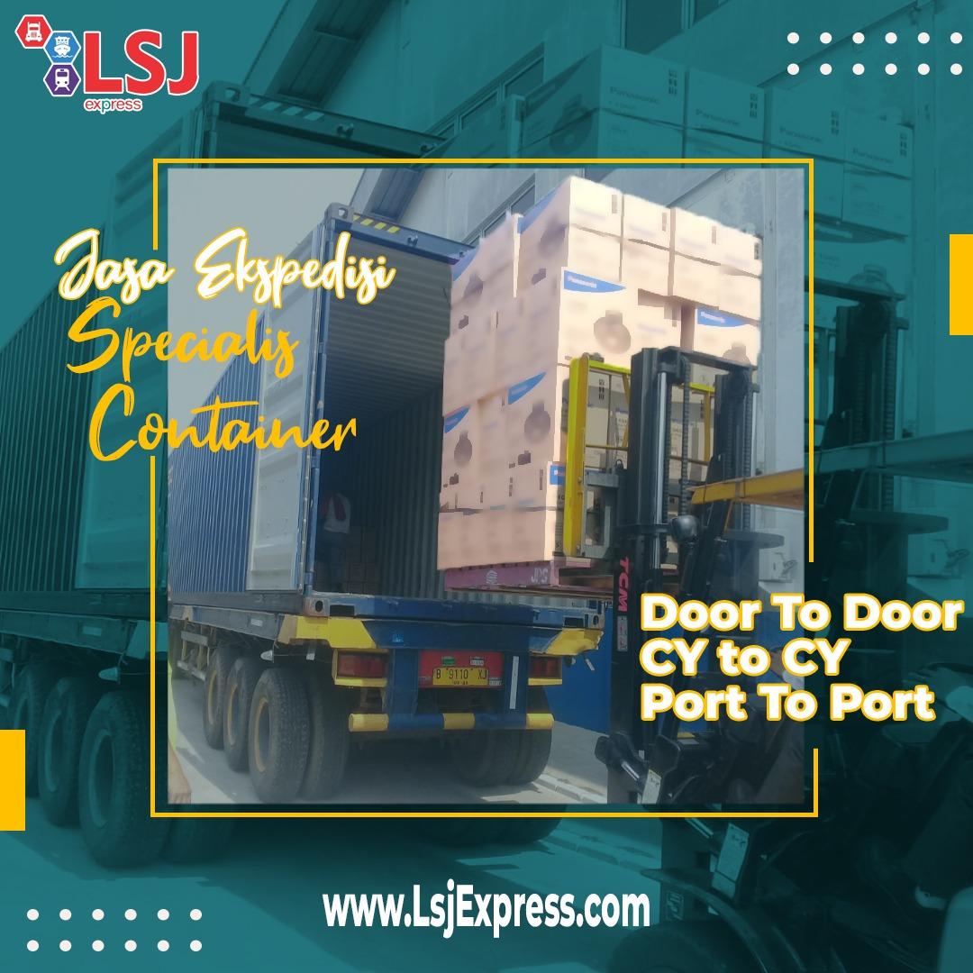 Ekspedisi via container Batu Licin ke Jakarta